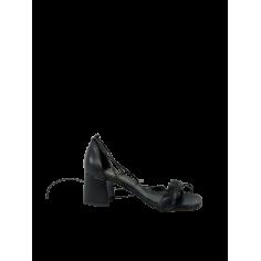 Sandalo treccia tacco medio