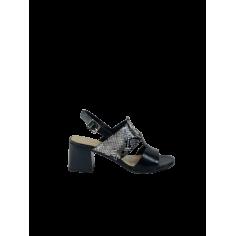 Sandalo tacco doppia fascia...