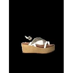 Sandalo zeppa dritta foglia...