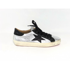 Crown Sneaker crack argento