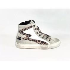 Sneaker Alta con cerniera Leo
