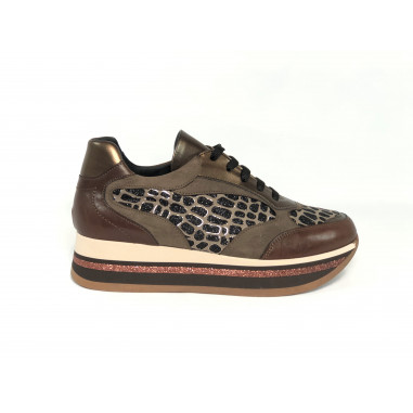 Kammi Sneaker Mix Marrone